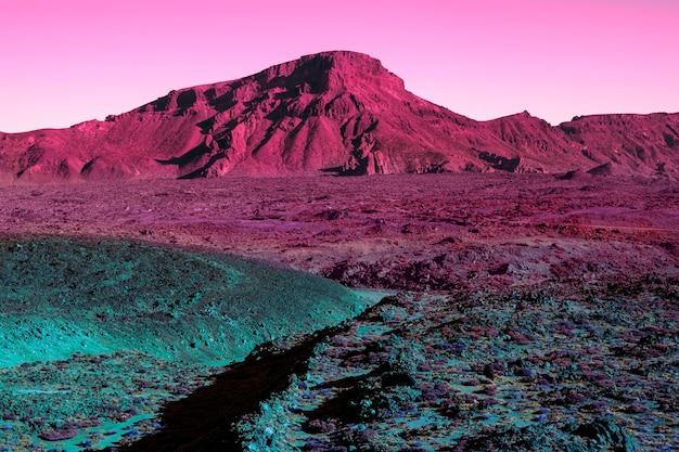 Estetyczny krajobraz w stylu retro vaporwave