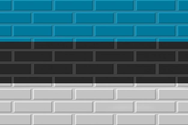 Estonia ceglana flaga ilustracja