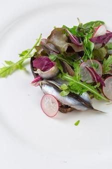 Estońska kanapka z anchois