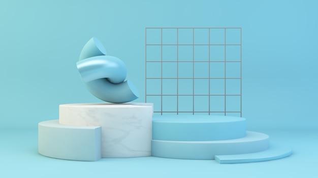 Etap prezentacji niebieskiego produktu