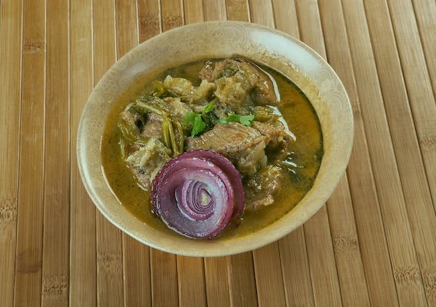 Ethiopian lamb onion stew - awaze tibs. kuchnia afrykańska