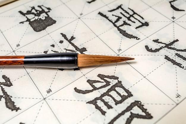 Etniczność japonia pędzel tło kultura pióro