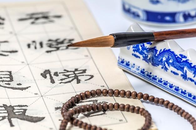 Etniczność kaligrafia pisanie tekstu japoński wschód
