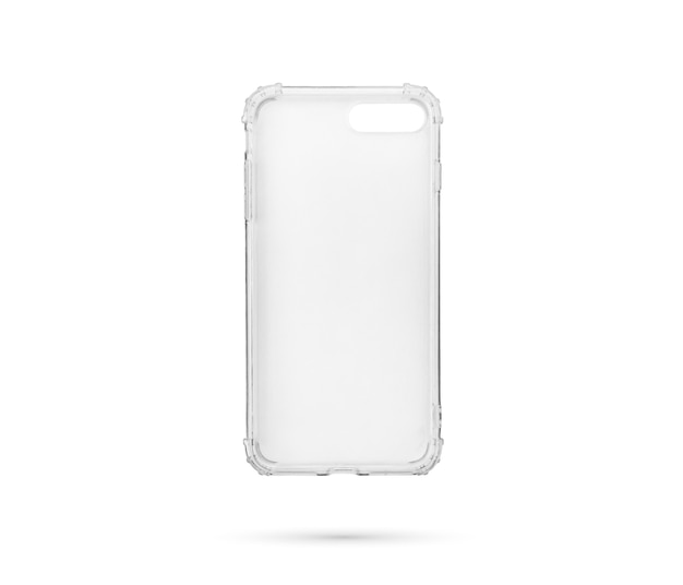 Etui na smartfona na białym tle