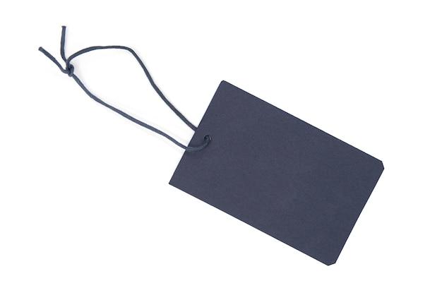 Etykieta ciemnego papieru lub etykieta na białym tle
