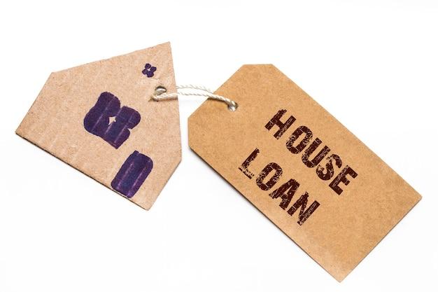 Etykieta domu z tekstem