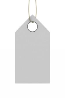 Etykieta na białej przestrzeni