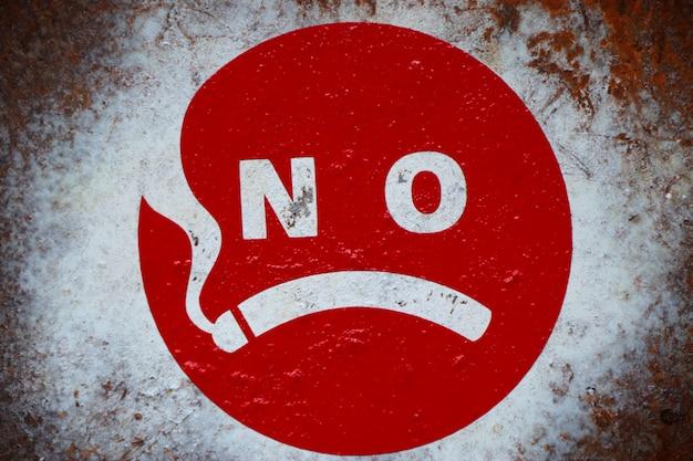 Etykieta znaku dla niepalących