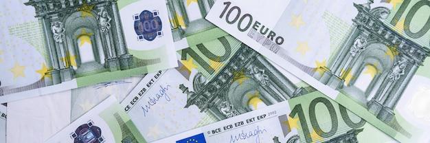 Euro Money. Tło Gotówki Euro. Banknoty Euro Money. Premium Zdjęcia