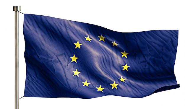 Europa flaga narodowa pojedyncze 3d białe tło