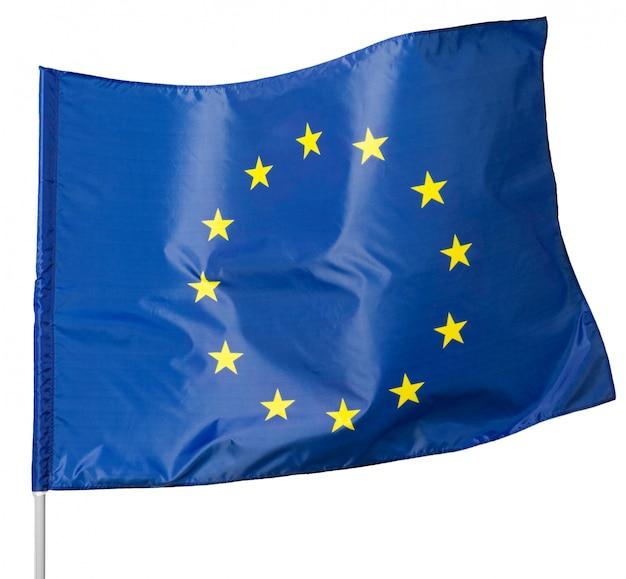 Europejska zrzeszeniowa flaga, odizolowywająca na białym tle.