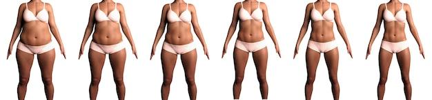 Ewolucja ciała kobiety podczas diety