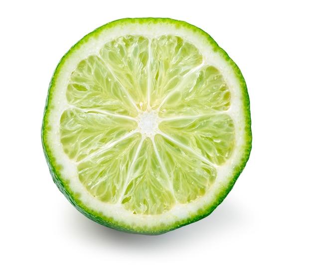 F wapno owoców cytrusowych na białym tle
