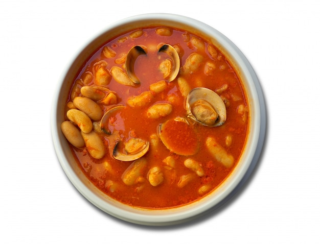 Fabes con almejas bean z recepturą małży asturias