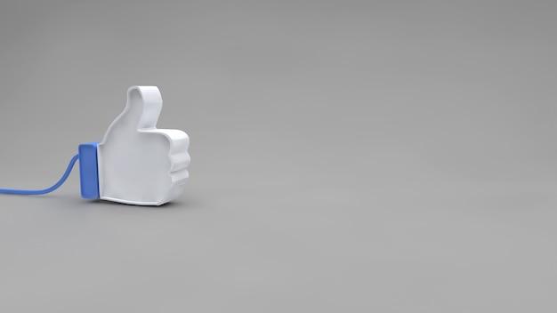 Facebook jak ikona na szarym tle