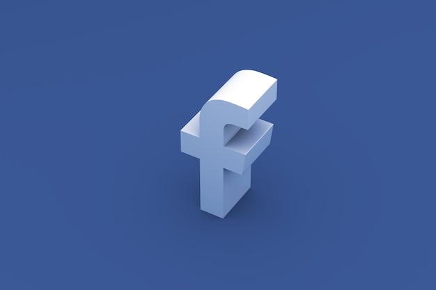 Facebook logo renderowania 3d tło