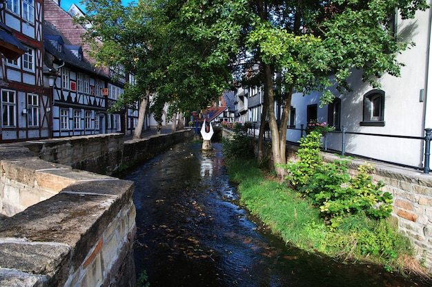 Fachwerk dom w goslar mieście, niemcy