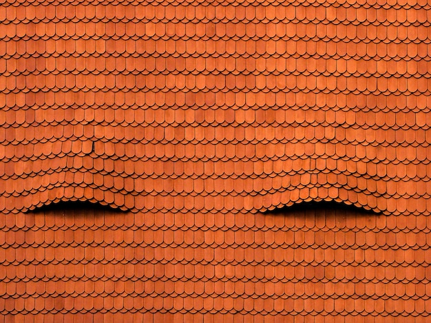 Fajne tło starego czerwonego dachu z interesującymi teksturami