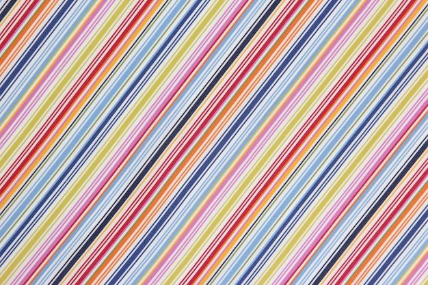 Faktura tkaniny w kolorowy ukośny pasek