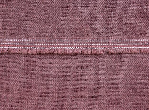 Faktura tkaniny z szwem