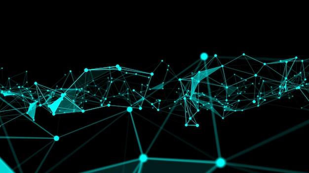 Fala połączeń sieciowych kropek nowatorskiej kreacji