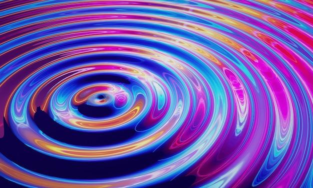 Fala świetlna rozpraszająca się w przestrzeni. fizyczna ilustracja kwantowa.