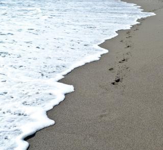 Fale, plaża, piasek,