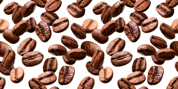 Falling coffee beansbackground