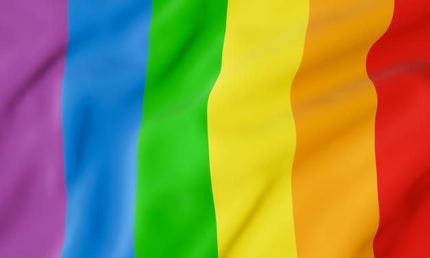 Falowana flaga tęczowa