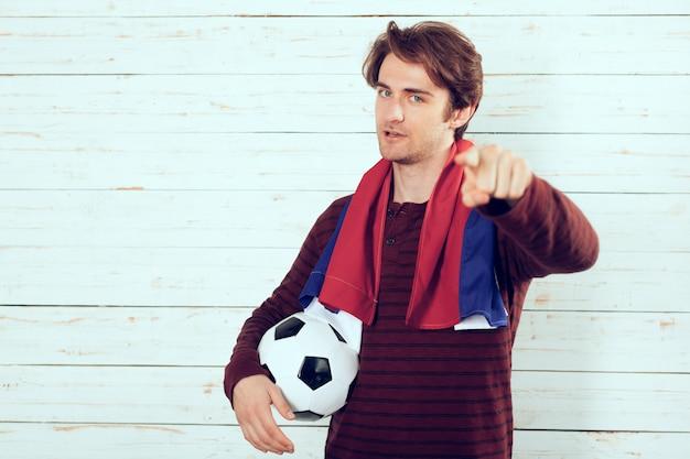 Fan piłki nożnej rosji