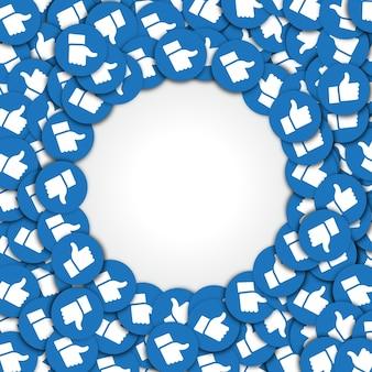 Fani okrągłego szablonu obrazu