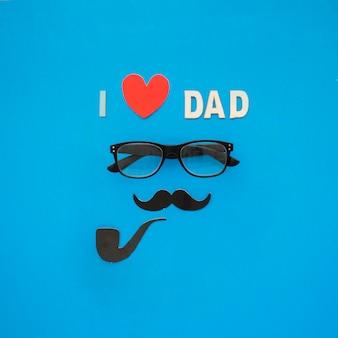 Fantastyczna kompozycja ojca w okularach