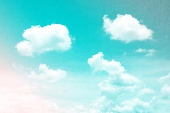 Fantasy i vintage dynamiczna chmura i niebo z grunge tekstury na tle