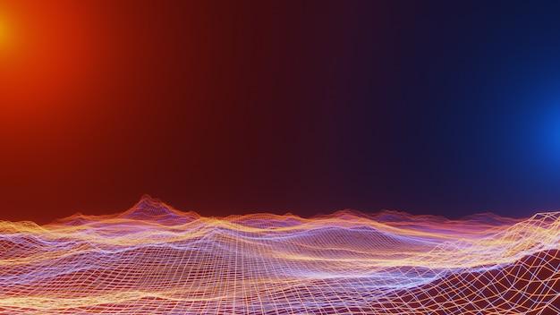 Fantasy wszechświat i przestrzeń, oświetlenie wolumetryczne. renderowania 3d