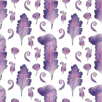 Fantazja tło z stylizowanymi liśćmi akantu roślina