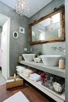 Fantazyjna nowoczesna dekoracja łazienki