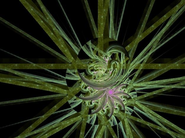 Fantazyjne bujne fraktal abstrakcyjne tło