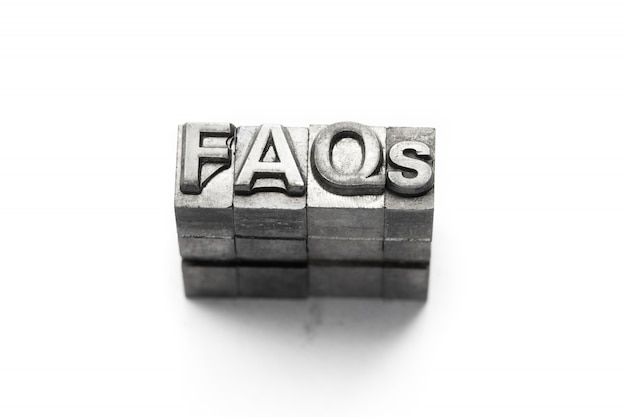 Faq, często zadawane pytania typografia
