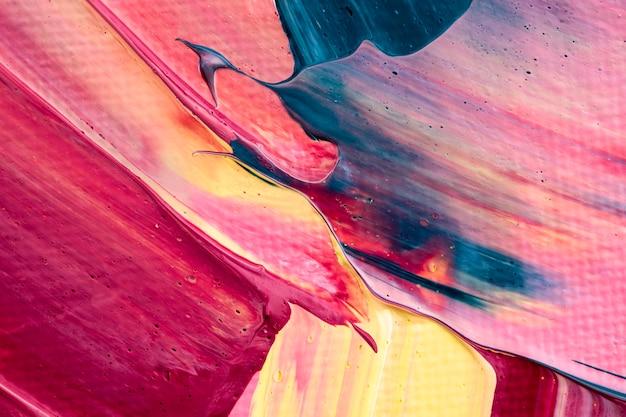 Farba akrylowa teksturowana tło w różowym abstrakcyjnym stylu kreatywnej sztuki