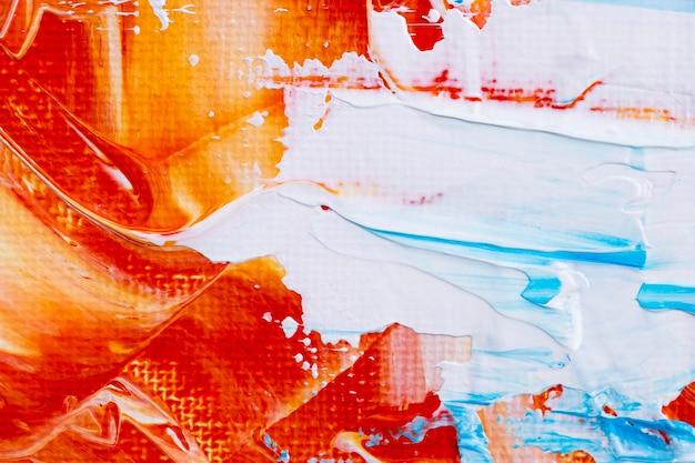Farba rozmazuje teksturowane tło w pomarańczowym abstrakcyjnym stylu kreatywnej sztuki