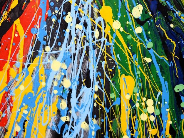Farby olejne kolorowe splash kropla słodkie kolory streszczenie tło i tekstura.