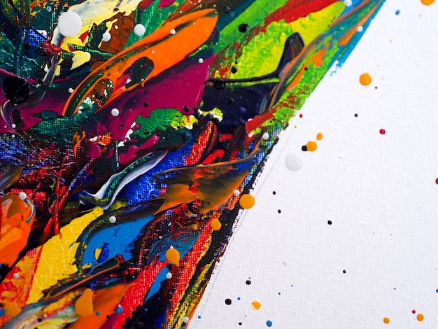 Farby olejne kolorowe szczotki udar powitalny kropla słodkie kolory streszczenie tło i tekstura.