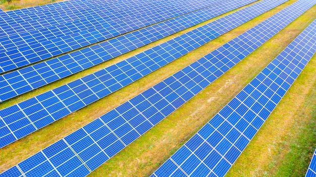 Farma słoneczna zdjęcie lotnicze