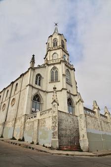 Fasada kościoła w valparaiso chile