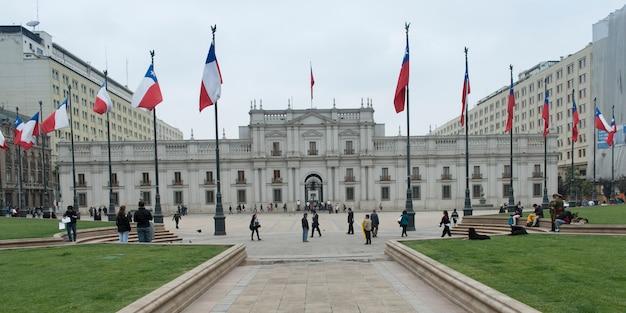 Fasada pałacu la moneda, santiago, santiago metropolitan region, chile