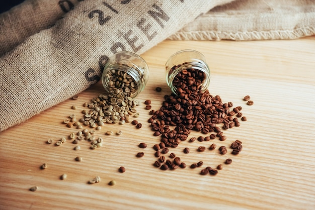 Fasolka szparagowa w torebce kawy z juta