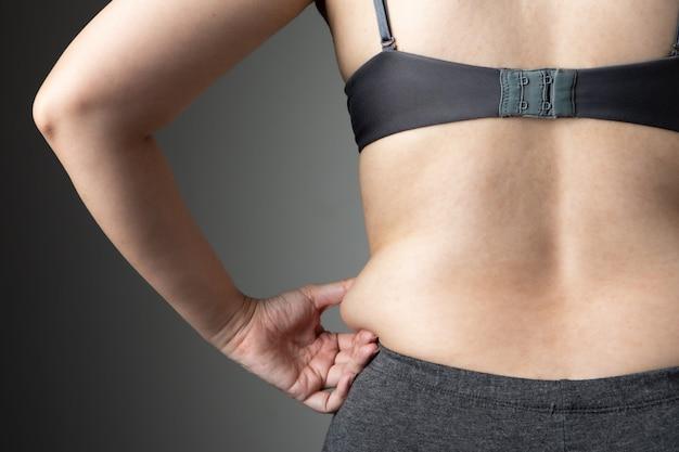 Fat kobieta cellulit brzuch niezdrowy