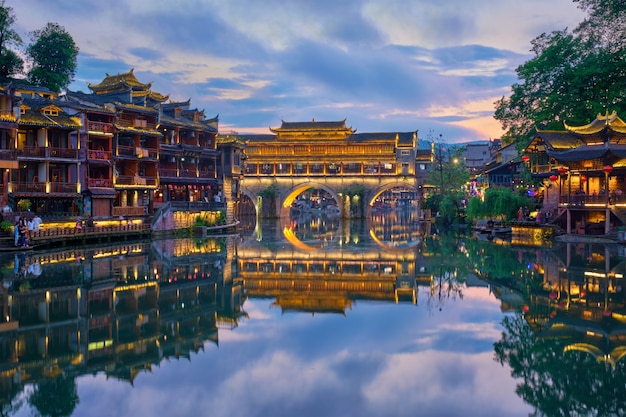 Feng huang ancient town phoenix ancient town, chiny