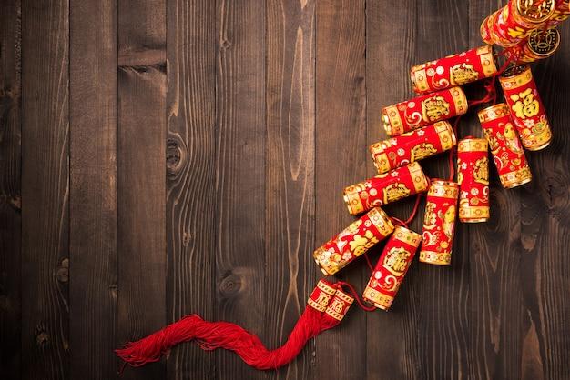 Festiwal chińskiego nowego roku widok z góry
