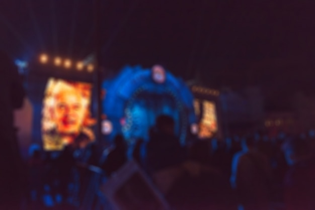 Festiwal koncertu motywu motywu rozmycie motywu